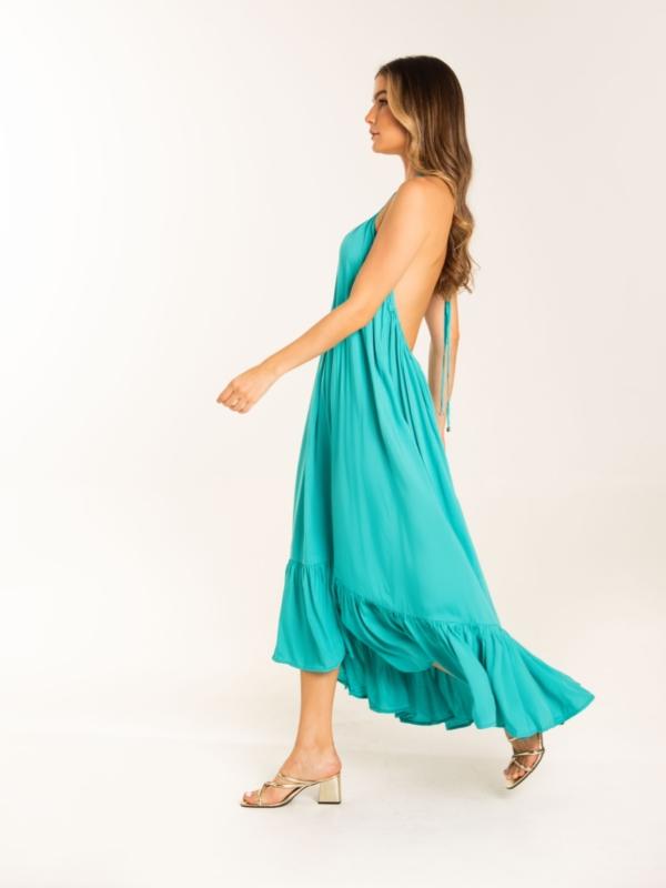 vestido me gusta turquesa
