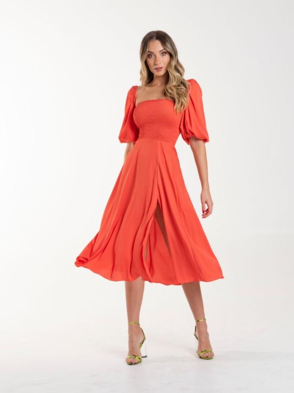 vestido Maju coral