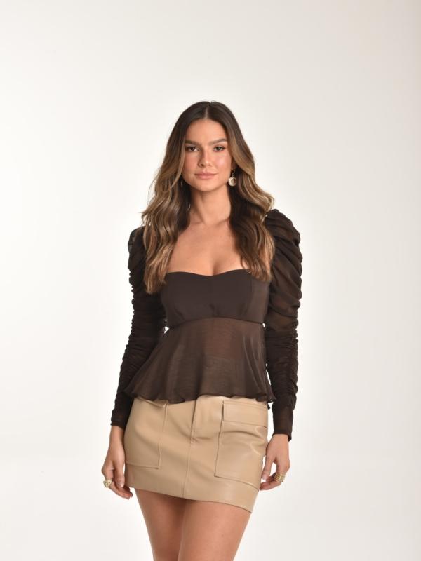 blusa crepe de seda Isabel