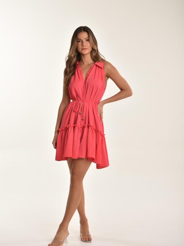 vestido botões Isadora pink