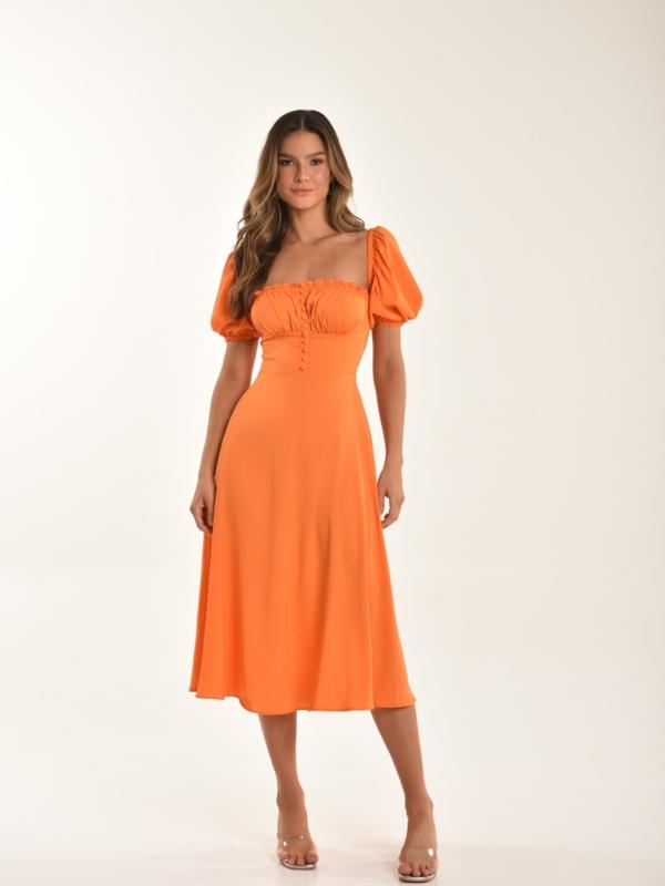 vestido laranja Joy